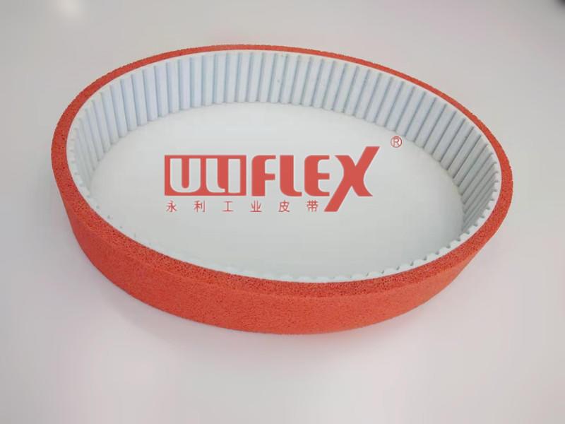 Belts with foam coating