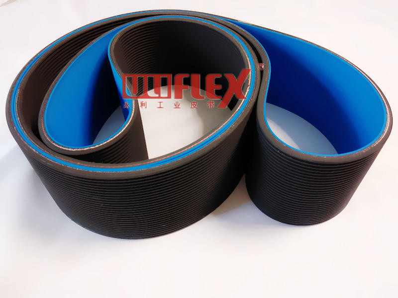 Rubber belt with silicone coating